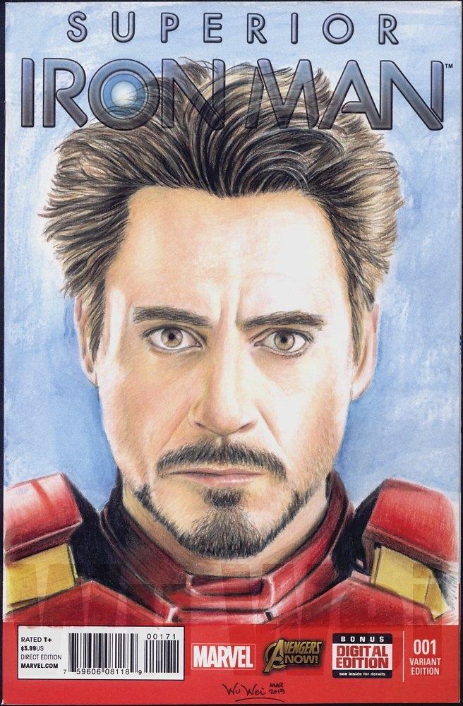 Robert Downey Jr by wu-wei